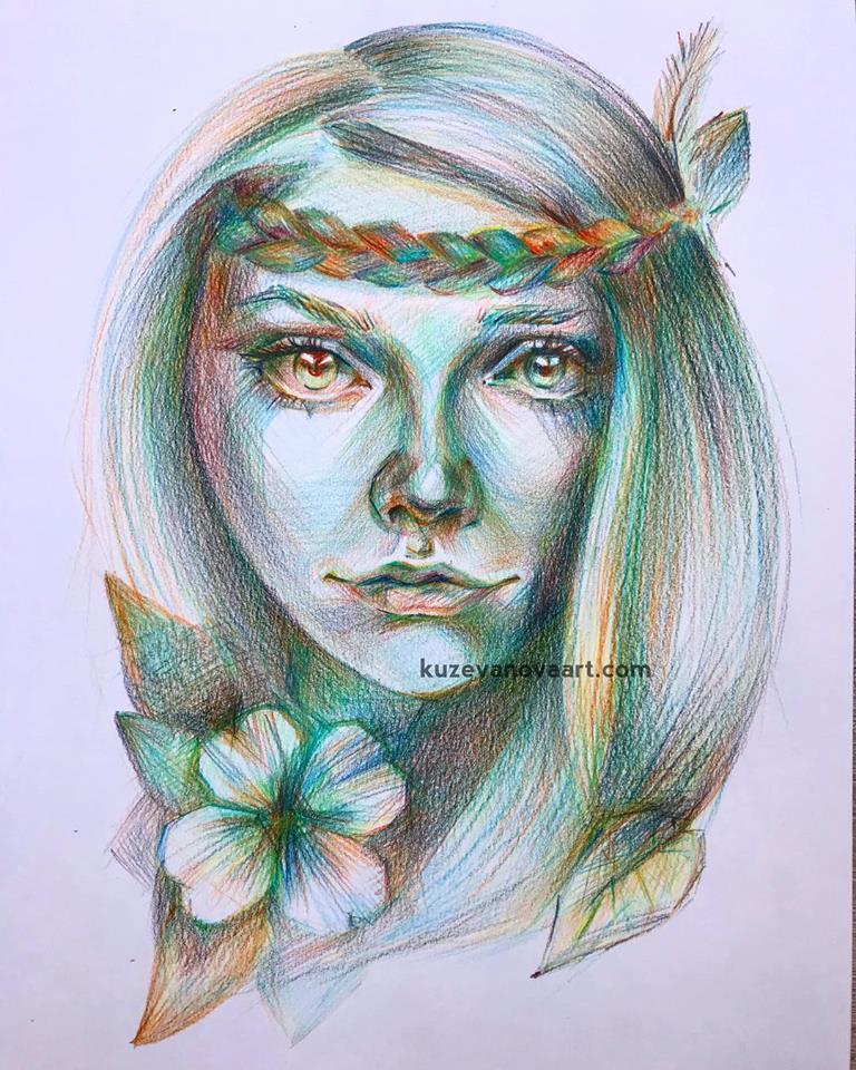 Радужная девушка