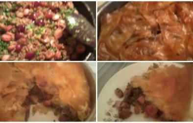 byrek me rrush dhe mish te grire
