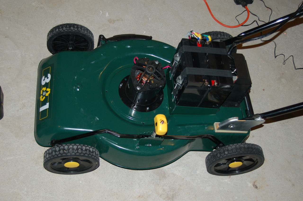 Amp Meter Wiring Diagram Battery Charger Upgrading An Electric Lawn Mower To Lithium Batteries