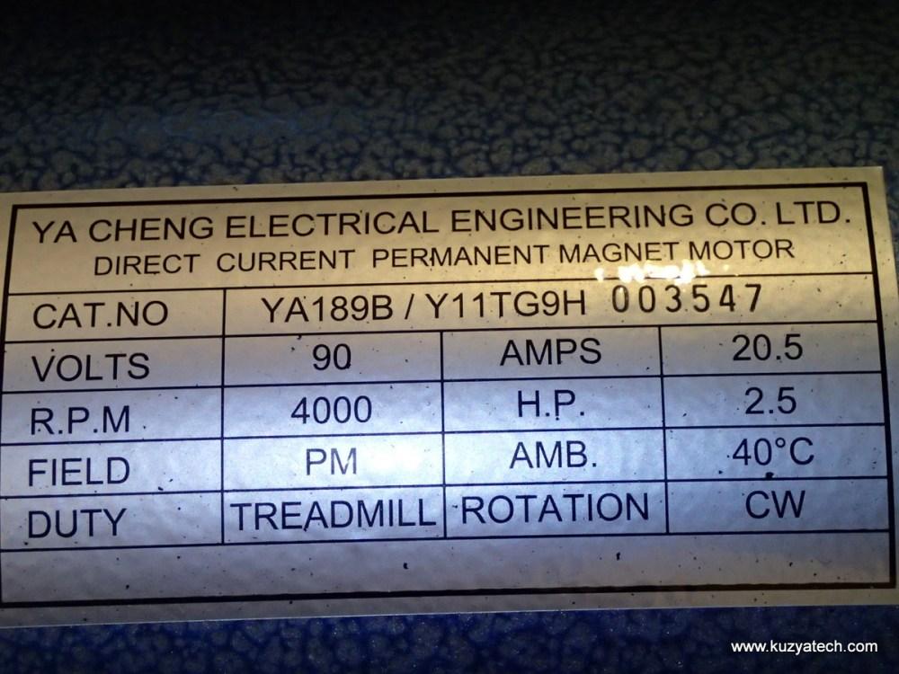 medium resolution of main motor 90v dc