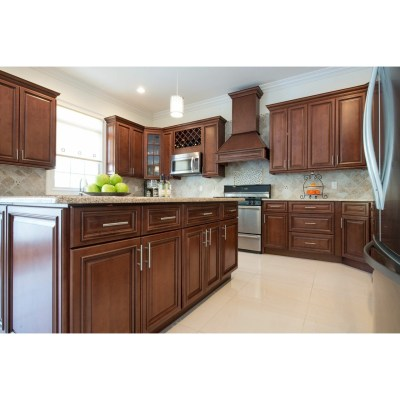 Oak Solid Wood Kitchen Furniture Classic Style High Quality Kitchen Cabinets