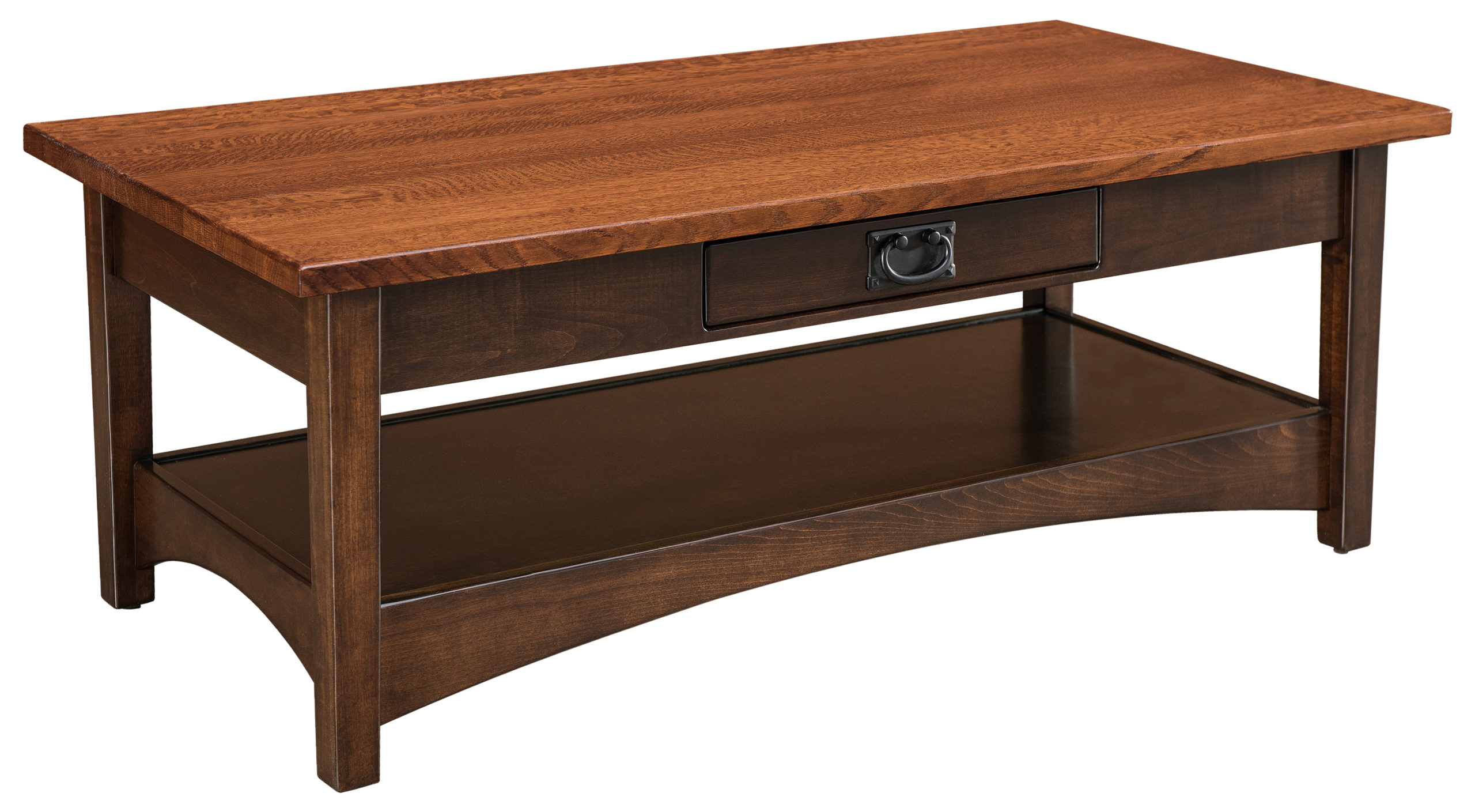arts crafts open coffee table amish solid wood coffee tables