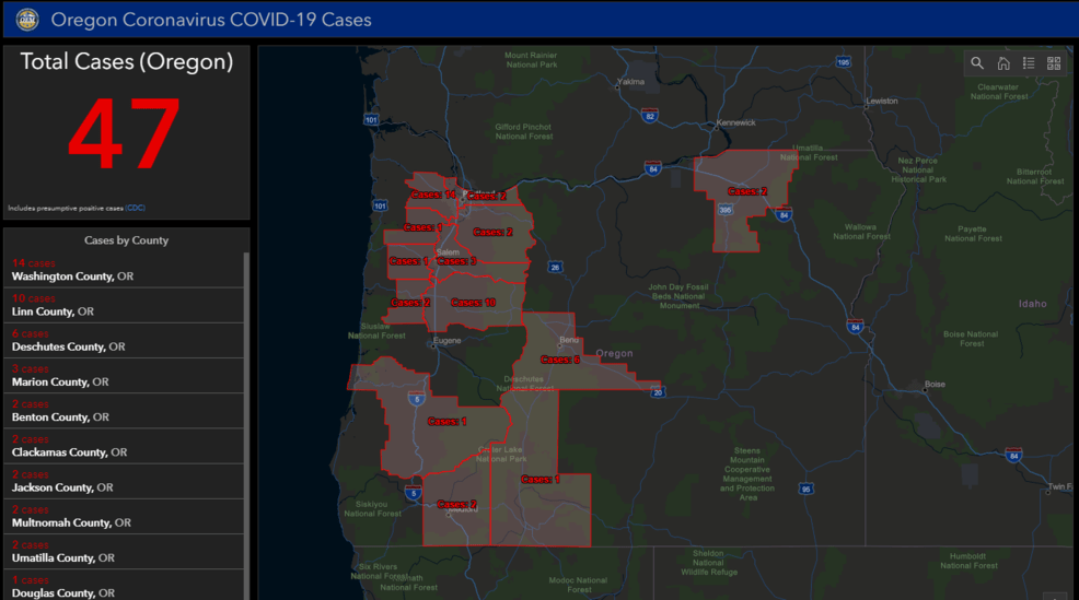 MAP: Track coronavirus COVID-19 cases in Oregon | KVAL