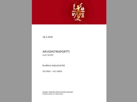 Kvalitest ISO 9001 ja ISO 14001