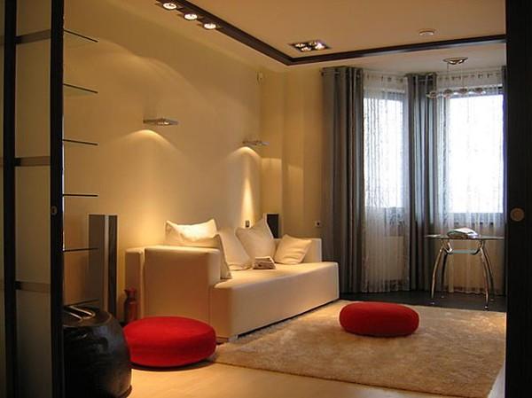 дизайн 1 комнатной квартиры 30 квм фото с выделенным спальным местом 5