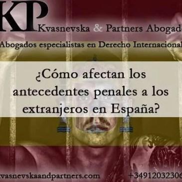 Antecedentes penales de extranjeros en España