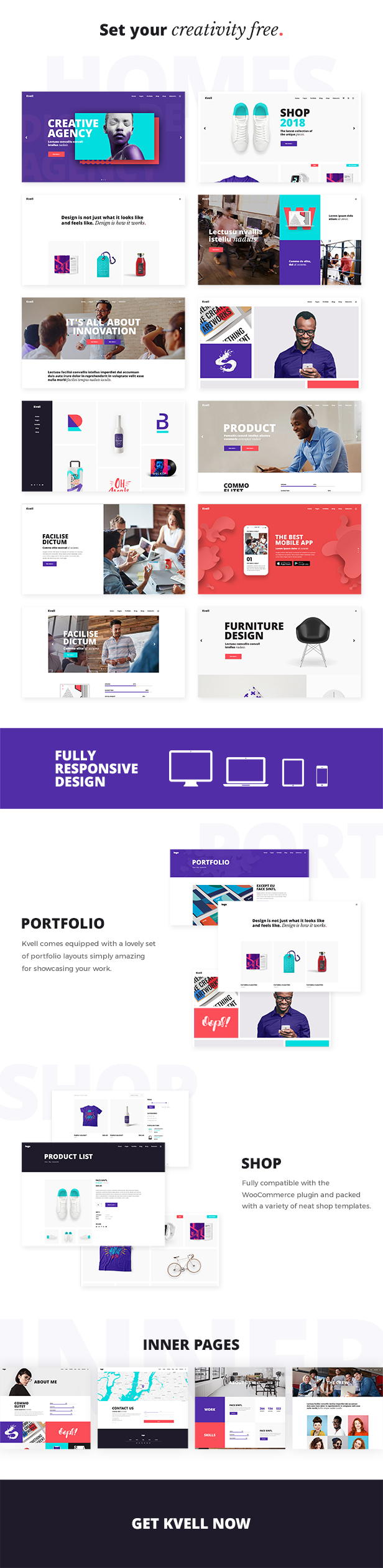 Kvell - A Creative Multipurpose Theme for Freelancers and Agencies - 1