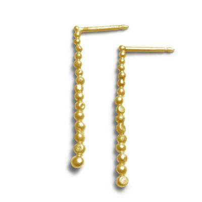falling drops earrings gold