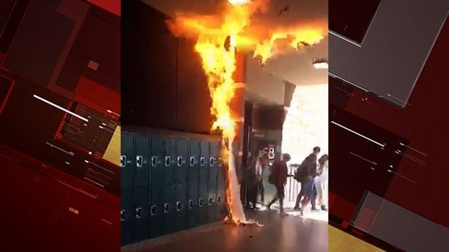 Student sets poster on fire at Coronado High  FOX5 Vegas
