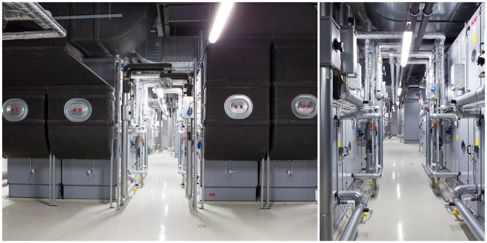 Business - Fotografie moderne Industrieanlage über einem OP-Saal