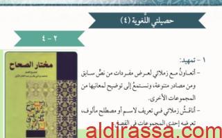 تقرير لغة عربية حصيلتي اللغوية للصف الثامن