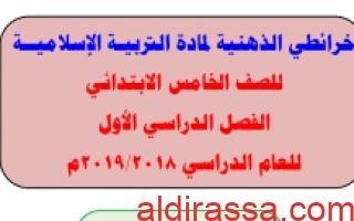 خرائط ذهبية تربية اسلامية للصف الخامس الفصل الاول اعداد غزوى الشمري