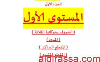 مذكرة تأسيس لغة عربية للصف الأول للمعلم حمادة ماهر