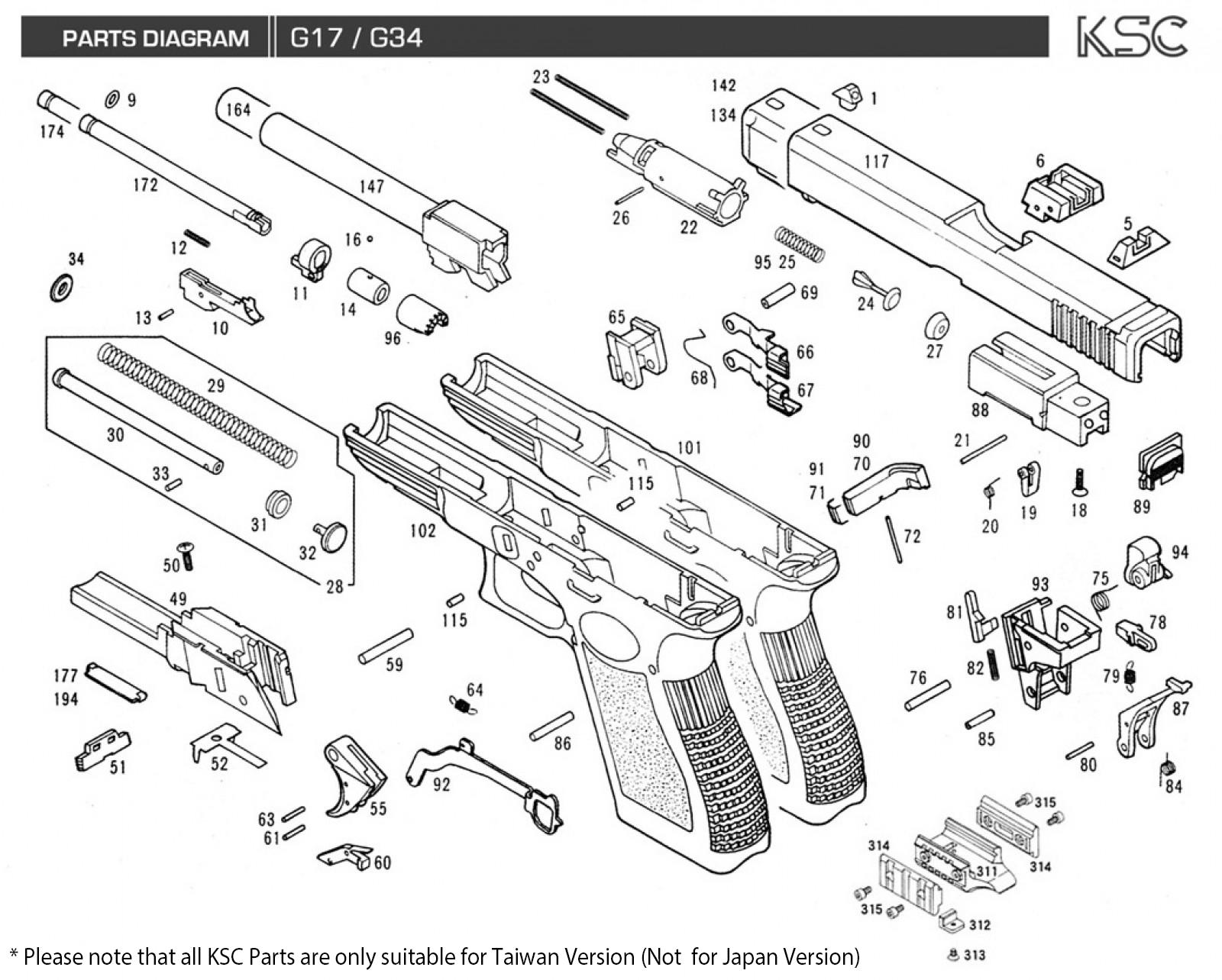 hight resolution of glock 17 parts diagram hhpurebuildco
