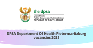 DPSA Department Of Health Pietermaritzburg vacancies 2021: we're sharing this work information for job seekers trying to find a LOCAL GOVERNMENT SPECIALIST job at DPSA Department Of Health. This informative article will further share everything, such as Requirement, Qualification, Procedure of employing sensibly associated with DPSA Department Of Health Pietermaritzburg Vacancies 2020-21 - LOCAL GOVERNMENT SPECIALIST job. This is excellent news for people that are interested in finding a LOCAL GOVERNMENT SPECIALIST job in KwaZulu Natal. This may be a dream for many candidates to find jobs in the DPSA Department Of Health, Pietermaritzburg City and this job is for both Fresher and Experienced.  There are many jobs available in Pietermaritzburg other than DPSA Department Of Health vacancies  Checkout jobs in Pietermaritzburg. The authorities of the KwaZulu Natal has released this information formally. You can Check the Most Recent jobs available from the Central Government Jobs and State Government on Our Site. Subscribe to our newsletter to get updated on job vacancies in Pietermaritzburg. There are over 100+ Vacancies 2020-21 obtainable from the KwaZulu Natal. The candidate will acquire comprehensive details concerning to KwaZulu Natal - LOCAL GOVERNMENT SPECIALIST Jobs program step by step filling Info, last dates, program fees, age limitation, education, amount of Vacancies 2020-21, wages, and program links. Everything is explained in this article related to the DPSA Department Of Health Pietermaritzburg vacancies. Many Part-time jobs are available in Pietermaritzburg.