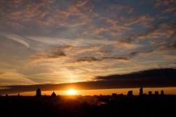 Zachód słońca nad Wilnem