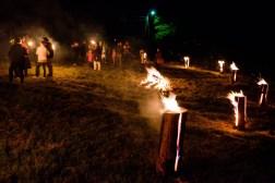 Pokaz ognia na festynie w Zabroście Wielkim