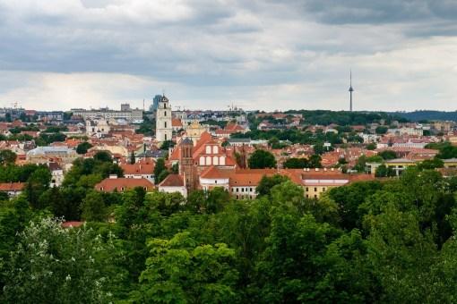 Panorama Wilna z jednego ze wzgórz