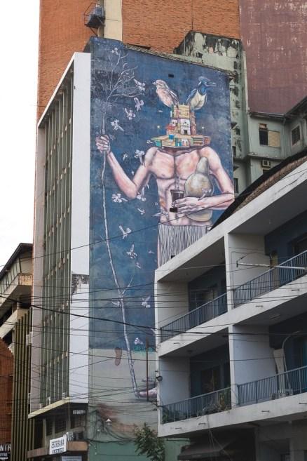 Kolejny z murali w Mural w centrum Asunción
