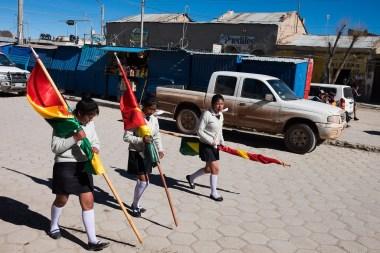 Ostatni dzień obchodów dnia niepodległości w Uyuni