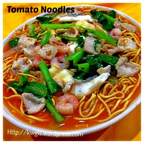 What I cooked today (家常便饭系列)- 13-7-2013–Tomato Yimin Noodles (茄汁伊面)
