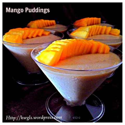 Light Yet Sophisticated And Delicious Mango Puddings (芒果布丁)