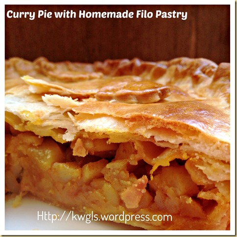 Homemade Filo Pastry–Curry Pie With Filo Pastry and Sausage Puff Snack (家居酥皮)
