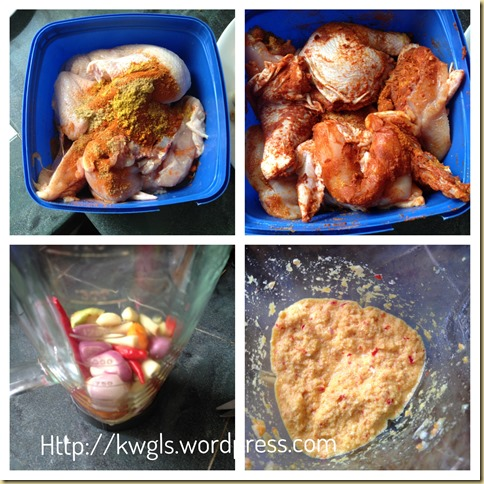 Grilled Coconut Spiced Chicken (Ayam Percik or Ayam Golek) (椰汁香料烤鸡)