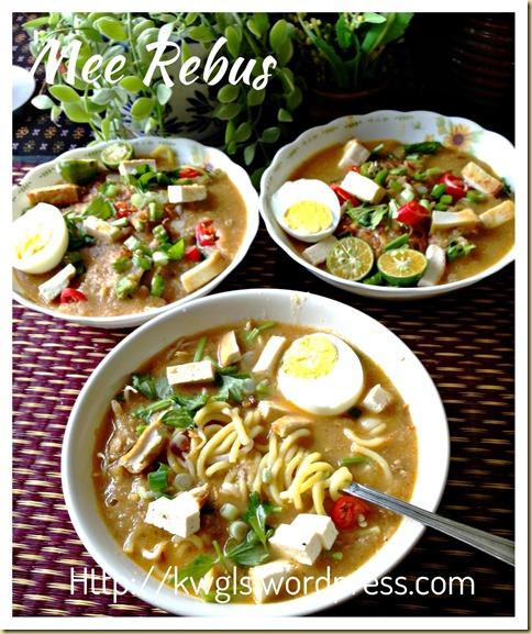 Noodles In Sweet Potatoes Gravy–Mee Rebus (马来卤面)