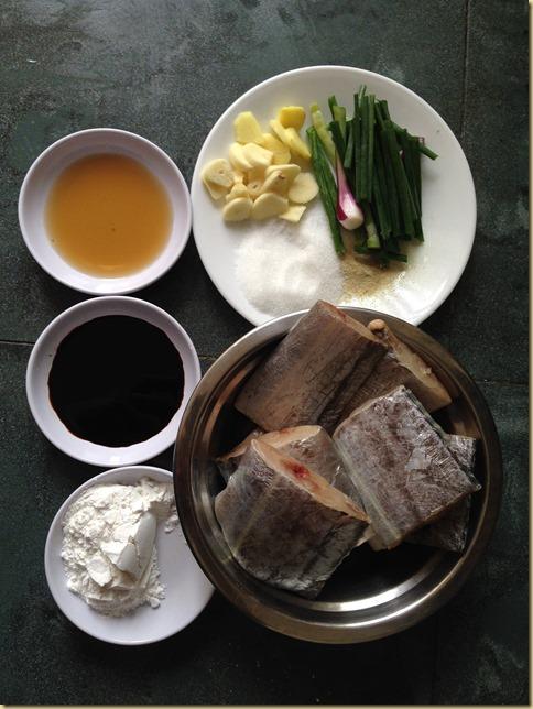 Braised Ribbon Fish (红烧带鱼)