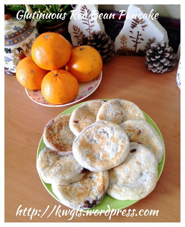 Glutinous rice flour red bean pancake guai shu shu glutinous rice flour red bean pancake ccuart Images