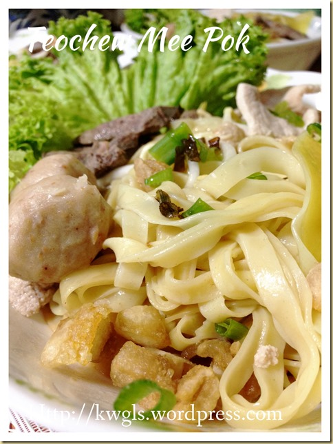 Teochew Mee Pok And Fish Ball Noodles (潮州肉脞面 ,潮州鱼圆面)