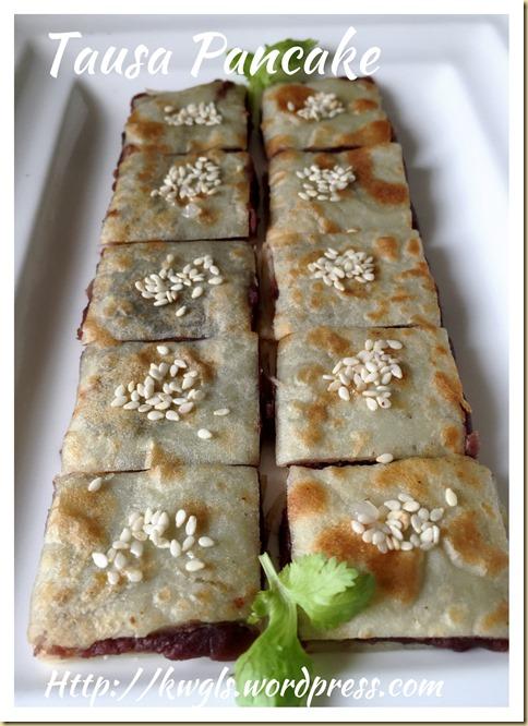 Chinese Red Bean Paste Pancake (tausa pancake or 豆沙锅饼)