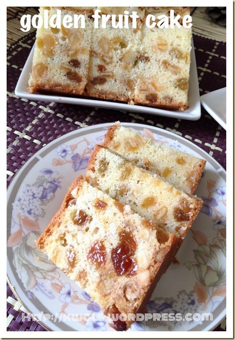 Eggless, Fatless 3 Ingredients Simple Fruit Cake (3 种食材简易杂果蛋糕)