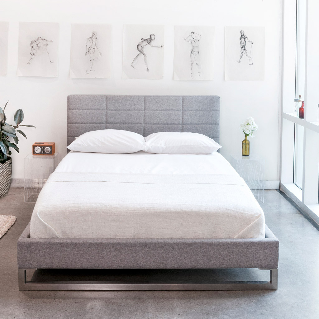 New Sleek And Simple Gus* Modern Beds  Kw Home