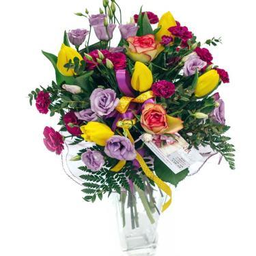 mieszany kolorowy bukiet poczta kwiaty
