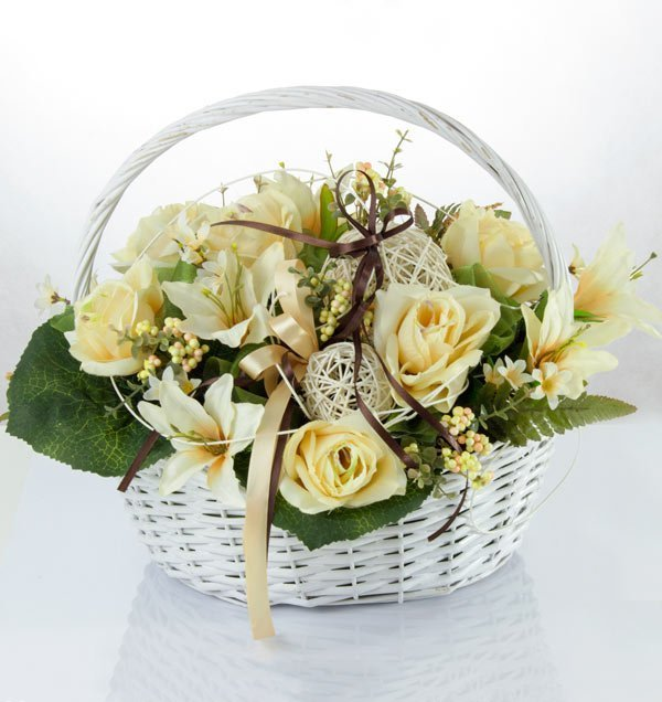kompozycja kosz kwiatów na dowóz racibórz