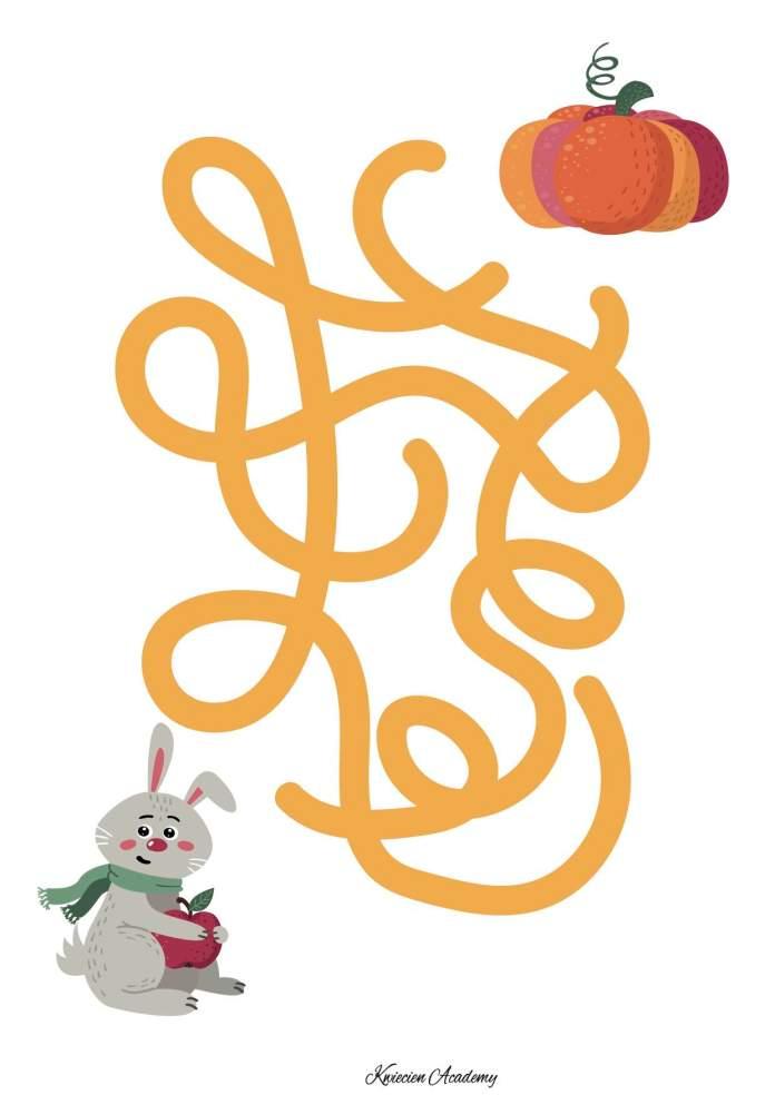 Jesień - labirynty dla przedszkolaków
