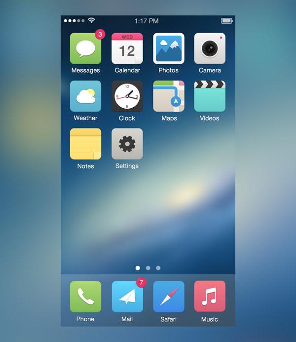 iOS7 Alternative Icons by Carlos Gavina