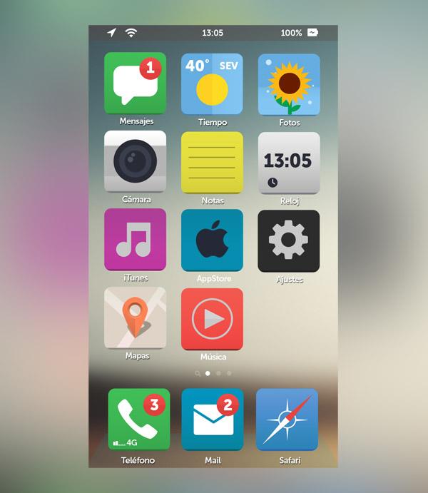 iOS Flat by Dámaso Benítez