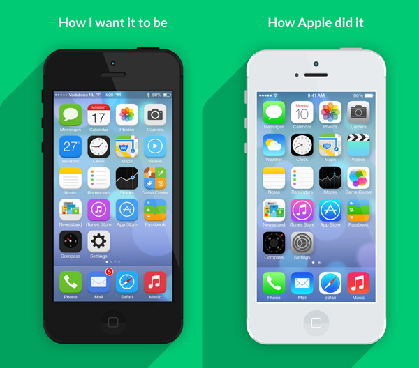How I want iOS7 to look by Jeffrey de Goot