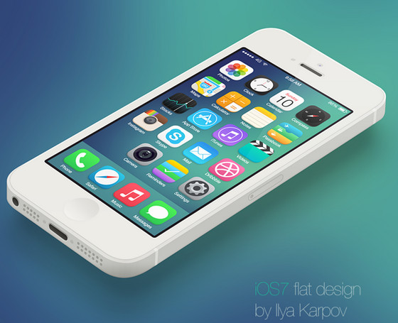 iOS flat design by Ilya Karpov