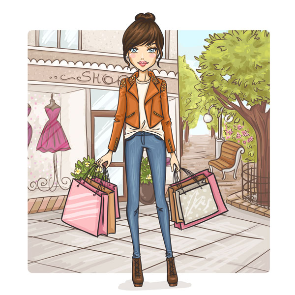 women-shopping-vector