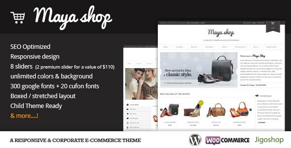 maya shop 35 Impressive WordPress Themes of April 2012