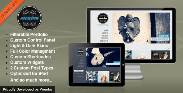 mercina 35 Impressive WordPress Themes of April 2012