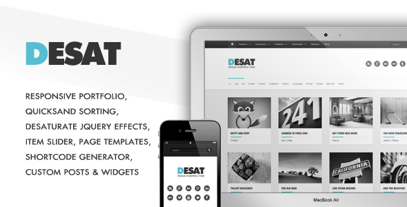 desat 35 Impressive WordPress Themes of April 2012