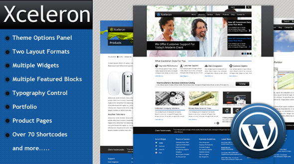 xceleron 35 Impressive WordPress Themes of April 2012