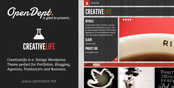creative life 35 Impressive WordPress Themes of April 2012