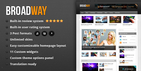broadway 35 Impressive WordPress Themes of April 2012