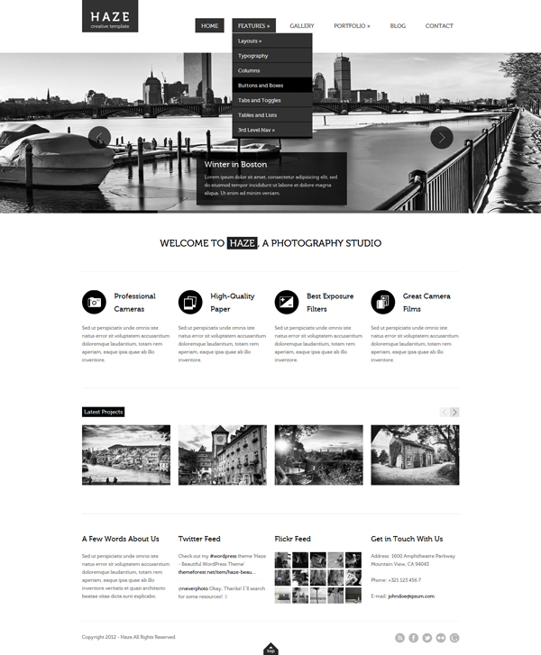 haze Best 30 WordPress Themes of June 2012